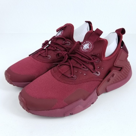 981ce48912f2 NIKE Air Huarache Drift Mens Sneakers Red Maroon